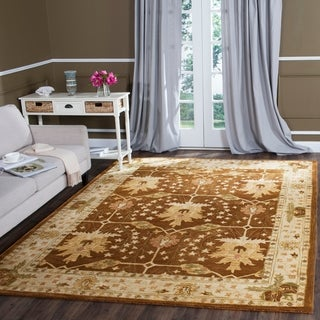 Safavieh Handmade Antiquity Brown/ Beige Wool Rug (7' 6 x 9' 6)