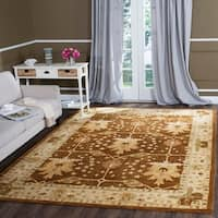 Safavieh Handmade Antiquity Brown/ Beige Wool Rug - 7'6 x 9'6
