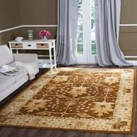 Safavieh Handmade Antiquity Brown/ Beige Wool Rug - 8'3 x 11'
