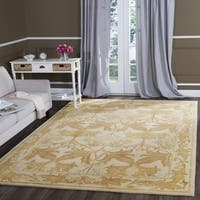 Safavieh Handmade Antiquity Beige/ Gold Wool Rug - 9'6 x 13'6