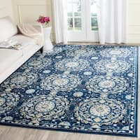 Safavieh Evoke Vintage Navy Blue/ Ivory Distressed Rug - 9' x 12'