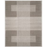 Safavieh Handmade Mirage Modern Light Grey Banana Art Silk Rug - 8' x 10'