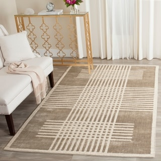 Safavieh Handmade Mirage Modern Brown Wool Rug (9' x 12')
