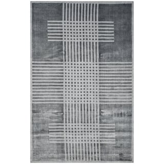 Safavieh Handmade Mirage Modern Dark Grey Wool Rug (9' x 12')
