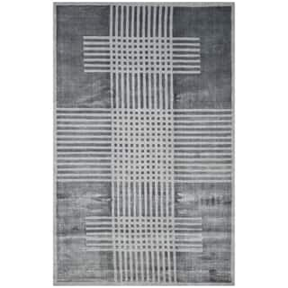 Safavieh Handmade Mirage Modern Dark Grey Banana Art Silk Rug (9' x 12')|https://ak1.ostkcdn.com/images/products/11744426/P18661185.jpg?impolicy=medium