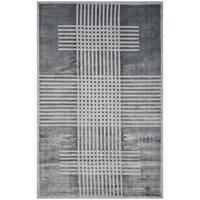 Safavieh Handmade Mirage Modern Dark Grey Banana Art Silk Rug - 9' x 12'