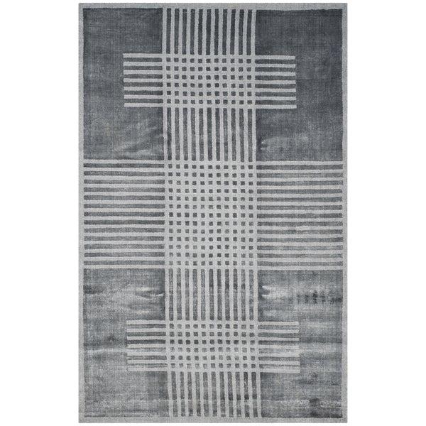 Safavieh Handmade Mirage Modern Dark Grey Banana Art Silk Rug - 9' x 12'