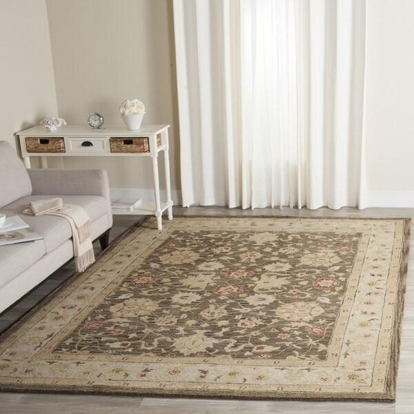 Safavieh Handmade Antiquity Olive Grey/ Beige Wool Rug - 8'3 x 11'