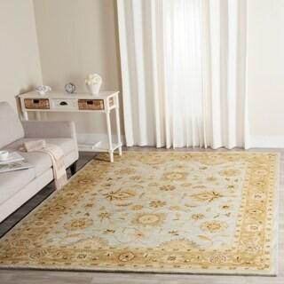 Safavieh Handmade Antiquity Light Blue/ Sage Wool Rug (9' 6 x 13' 6)