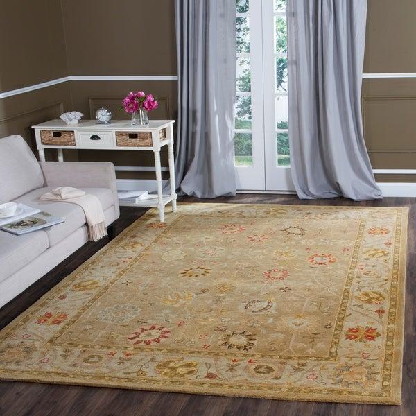 Safavieh Handmade Antiquity Taupe/ Beige Wool Rug - 7'6 x 9'6