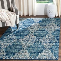 Safavieh Evoke Vintage Royal Blue/ Ivory Distressed Rug (10' x 14') - 10' x 14'