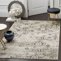 Safavieh Artifact Vintage Charcoal/ Cream Distressed Rug - 6'7 x 9'2