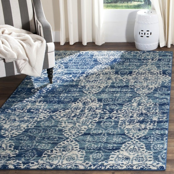 Safavieh Evoke Vintage Royal Blue/ Ivory Distressed Rug (9' x 12')
