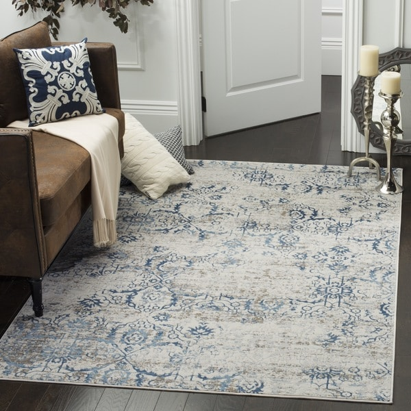 Safavieh Artifact Vintage Blue Cream Distressed Rug 8
