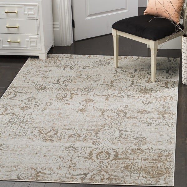 Safavieh Artifact Vintage Grey/ Cream Distressed Rug - 9' x 12'