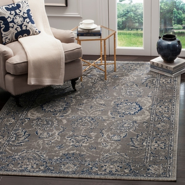 Safavieh Artisan Vintage Dark Grey/ Blue Distressed Area Rug - 10' x 14'