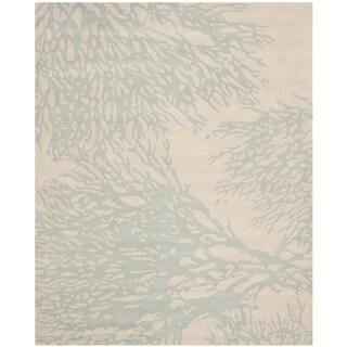 Safavieh Handmade Bella Beige/ Blue Wool Rug (9' x 12')