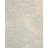 Safavieh Handmade Bella Beige/ Blue Wool Rug - 9' x 12'