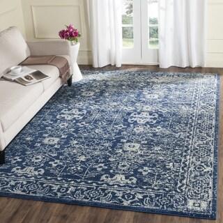 Safavieh Evoke Vintage Oriental Navy Blue/ Ivory Distressed Rug (10' x 14')