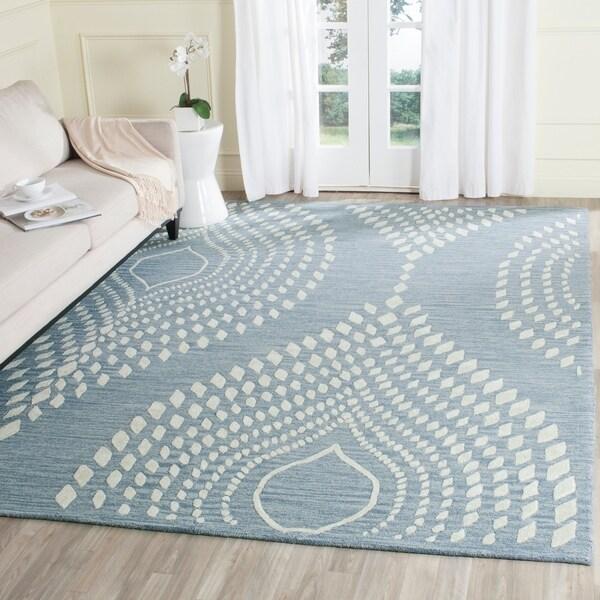 Safavieh Handmade Bella Blue/ Ivory Wool Rug - 9' x 12'