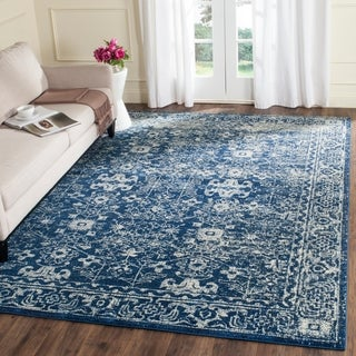 Safavieh Evoke Vintage Oriental Navy Blue/ Ivory Distressed Rug (8' x 10')