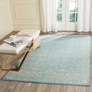 Safavieh Evoke Vintage Oriental Light Blue/ Ivory Distressed Rug (10' x 14')