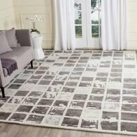 Safavieh Handmade Bella Dark Grey/ Ivory Wool Rug - 8' x 10'