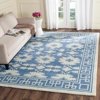 Safavieh Handmade Bella Blue/ Ivory Wool Rug (8' x 10')