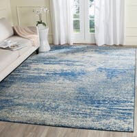 Safavieh Evoke Vintage Modern Abstract Navy / Ivory Distressed Rug (9' x 12')