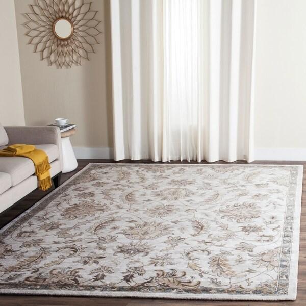 Safavieh Handmade Bella Ivory/ Multi Wool Rug - 8' x 10'