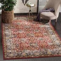 Safavieh Bijar Traditional Oriental Red/ Royal Blue Distressed Rug - 8' x 10'