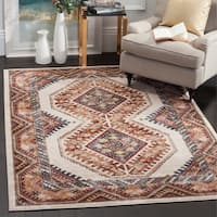 Safavieh Bijar Traditional Oriental Ivory/ Rust Distressed Rug - 8' x 10'