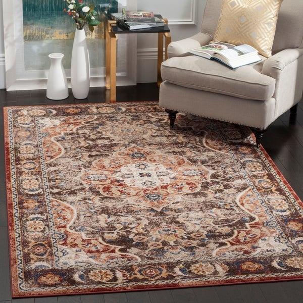 Safavieh Bijar Traditional Oriental Brown/ Rust Distressed Rug - 8' x 10'