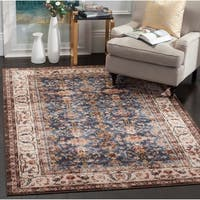 Safavieh Bijar Traditional Oriental Royal Blue/ Ivory Distressed Rug (9' x 12')