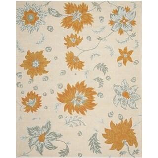 Safavieh Handmade Blossom Ivory/ Multi Wool Rug (8' 9 x 12')