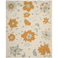 Safavieh Handmade Blossom Ivory/ Multi Wool Rug - 8'9 x 12'