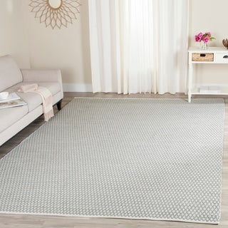 Safavieh Handmade Boston Flatweave Grey Cotton Rug (8' x 10')
