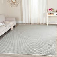 Safavieh Handmade Boston Flatweave Grey Cotton Rug - 8' x 10'