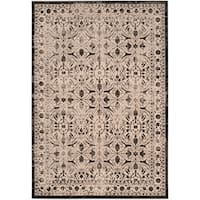 Safavieh Brilliance Vintage Cream/ Black Distressed Rug - 6'7 x 9'2