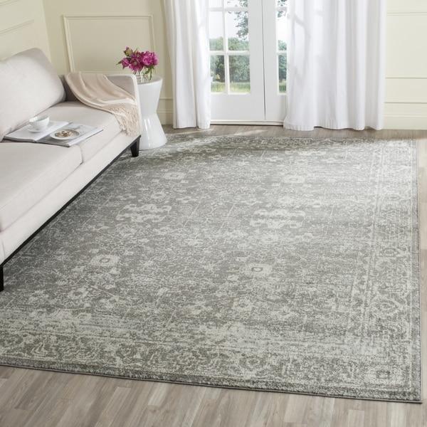 8x10 Area Rugs Gray And White: Safavieh Evoke Vintage Oriental Grey / Ivory Distressed
