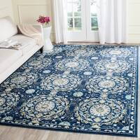 Safavieh Evoke Vintage Navy Blue/ Ivory Distressed Rug - 8' x 10'