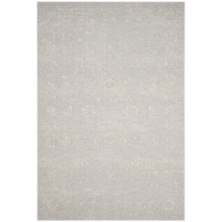 Safavieh Carnegie Vintage Light Grey/ Cream Distressed Rug (8' x 10')