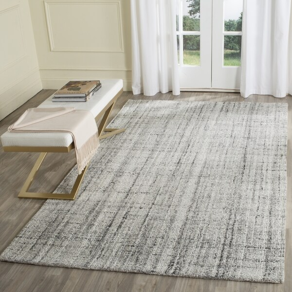 Modern Rugs 8 X 10: Safavieh Handmade Modern Abstract Grey/ Black Rug