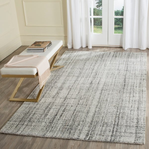 Safavieh Handmade Modern Abstract Grey/ Black Rug - 8' x 10'