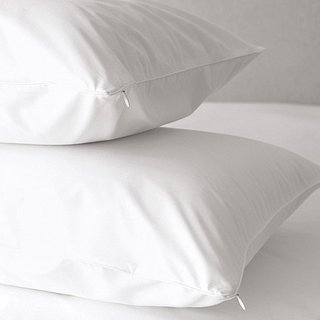 OSleep 400 Thread Count White Cotton Hypoallergenic Pillow Protector (Set of 2)