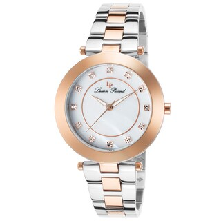Lucien Piccard Odessa Stainless Steel and Rose-Tone Mother of Pearl Watch
