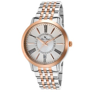 Lucien Piccard Sofia Two-Tone Stainless Steel Silver-Tone and Mother of Pearl Watch
