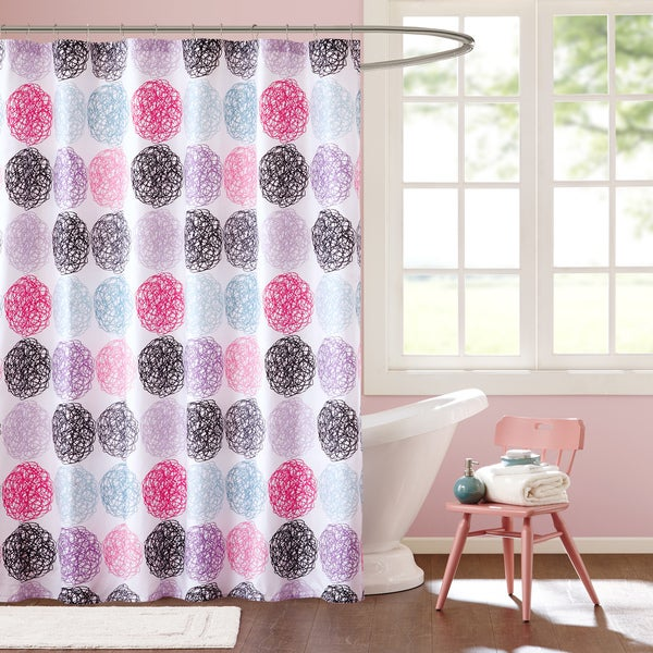 Mi Zone Audrina Multicolor Shower Curtain