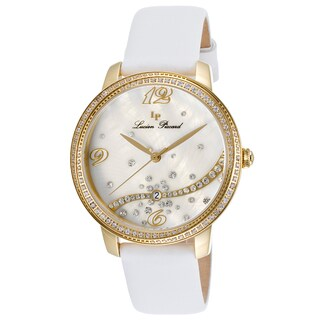 Lucien Piccard Mirage White Satin White Mother of Pearl Watch