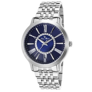 Lucien Piccard Sofia Stainless Steel Dark Blue and Mother of Pearl Watch